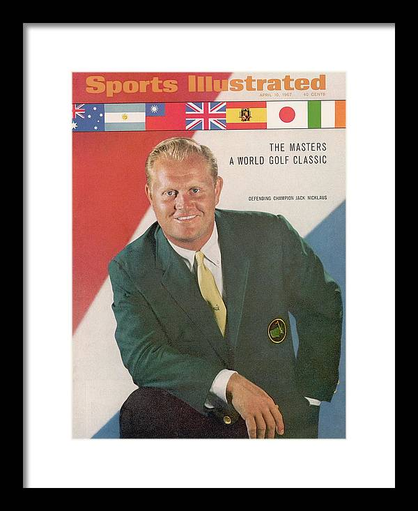 Magazine Cover Framed Print featuring the photograph Jack Nicklaus, Golf Sports Illustrated Cover by Sports Illustrated