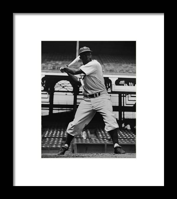 People Framed Print featuring the photograph Jackie Robinson by Archive Photos