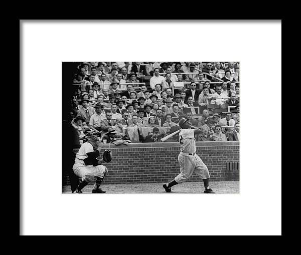 Timeincown Framed Print featuring the photograph Jackie Robinson by Francis Miller