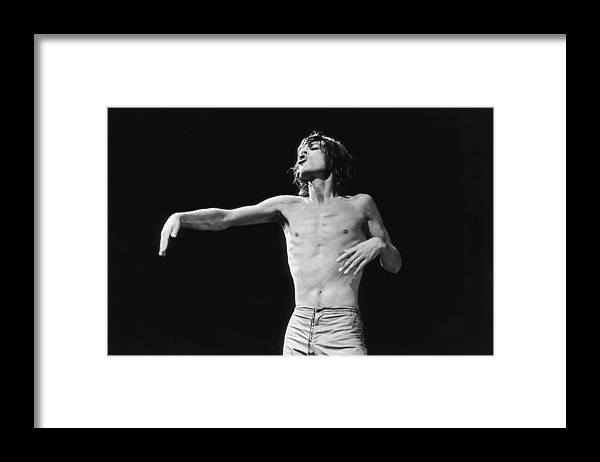 Mick Jagger Framed Print featuring the photograph Jagger Gestures by Graham Wood