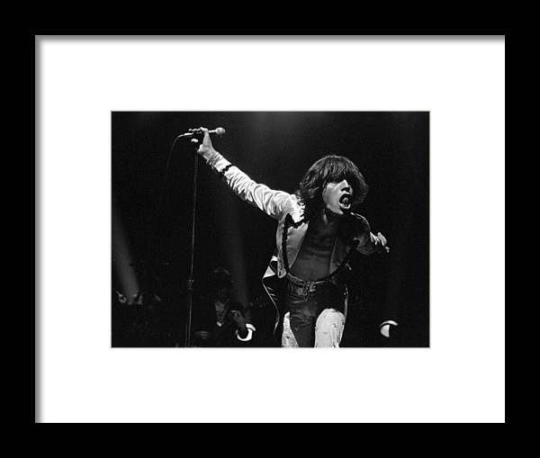 Mick Jagger Framed Print featuring the photograph Jaggers Tongue by Graham Wiltshire