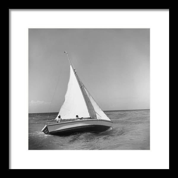 Jamaica Sea Sailing Framed Print