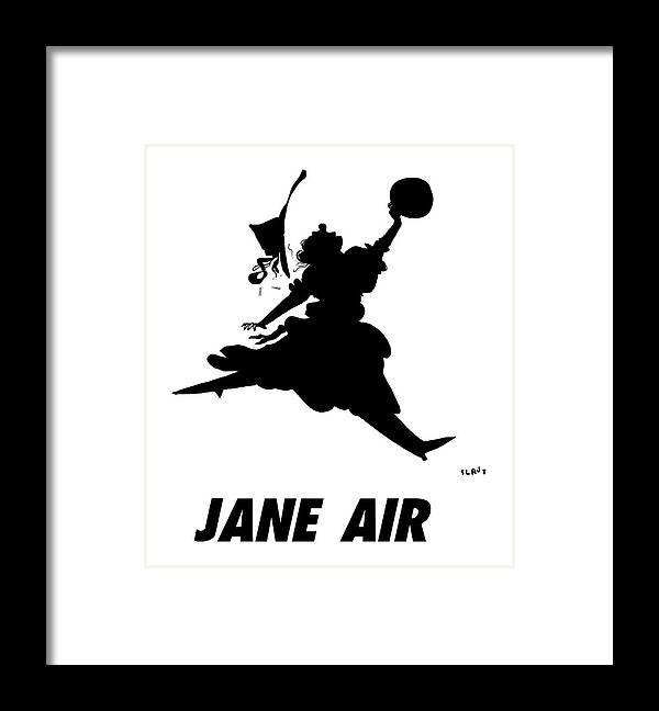 Jane Air Framed Print featuring the drawing Jane Air by Sara Lautman