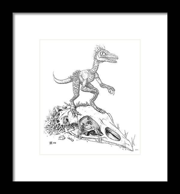 Jani Framed Print featuring the drawing Jani - Trash Loa by Sami Matilainen