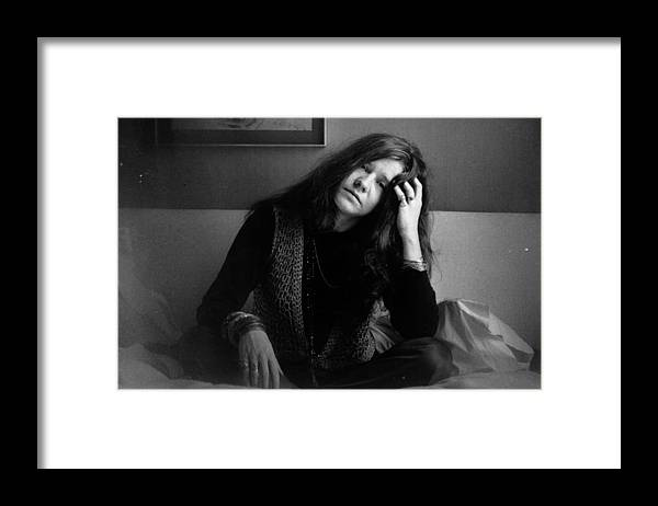 Rock Music Framed Print featuring the photograph Janis Joplin by Evening Standard
