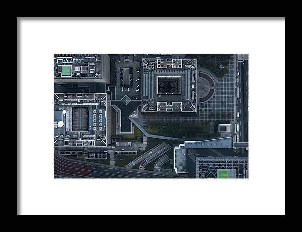 Two Lane Highway Framed Print featuring the photograph Japan, Tokyo, Aerial View Of Shinagawa by Michael H