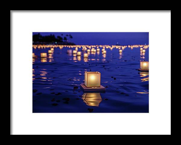 Honolulu Framed Print featuring the photograph Japanese Floating Lanterns by Julie Thurston