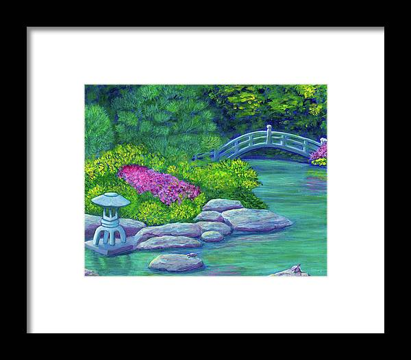 Japan Framed Print featuring the painting Japanese Garden by Laura Zoellner