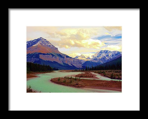 Scenics Framed Print featuring the photograph Jasper Rockies by Teeje