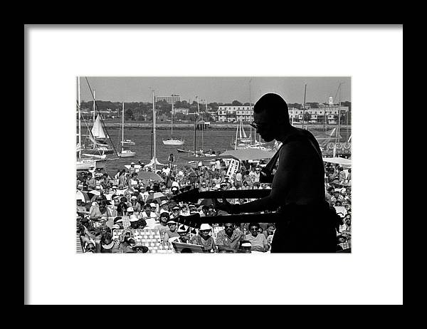 1980-1989 Framed Print featuring the photograph Jazz Musican At Newport Festival by Bettmann
