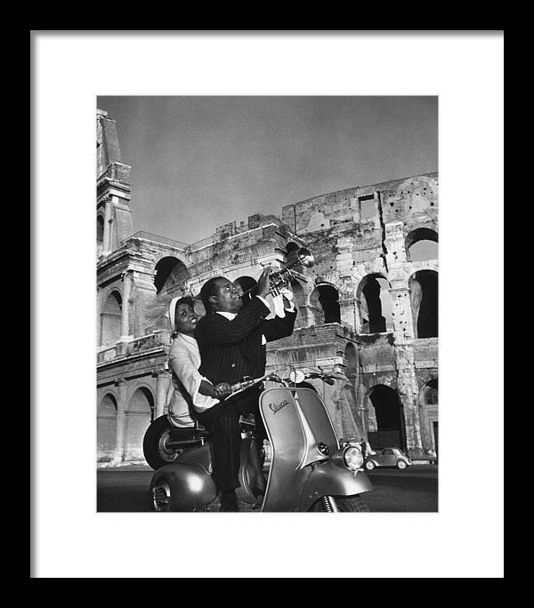 Singer Framed Print featuring the photograph Jazz Scooter by Slim Aarons