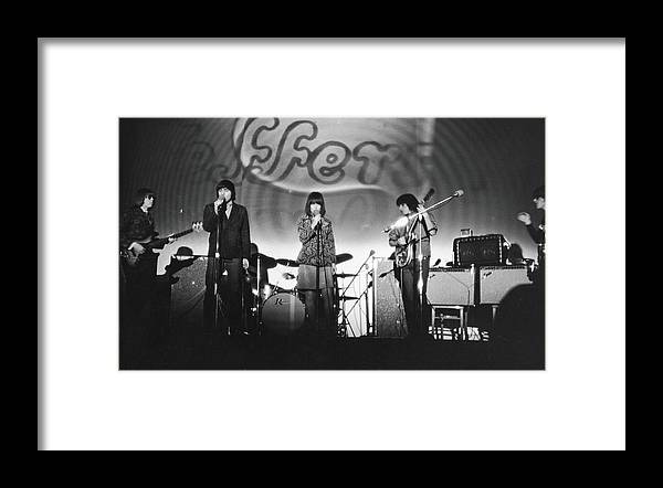 Rock Music Framed Print featuring the photograph Jefferson Airplane At The Fillmore East by Fred W. McDarrah