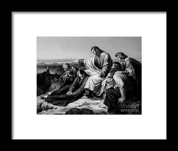 Engraving Framed Print featuring the drawing Jerusalem Hath Grievously Sinned by Print Collector