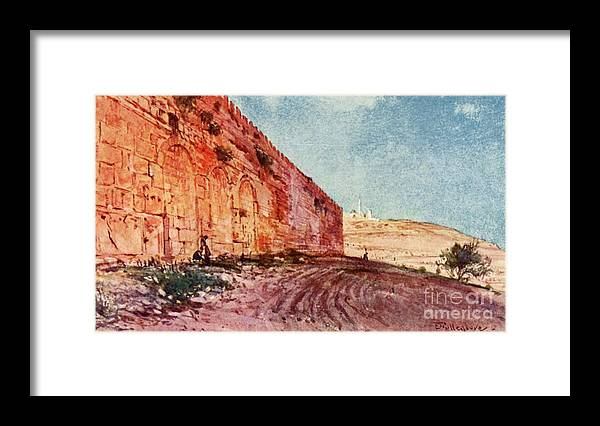 People Framed Print featuring the drawing Jerusalem - The Triple Gate by Print Collector