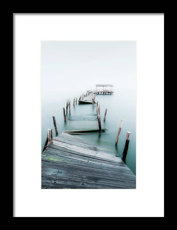 The End Framed Print featuring the photograph Jetty by Lt Photo