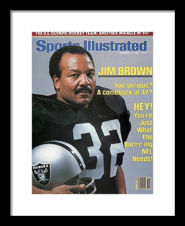 Magazine Cover Framed Print featuring the photograph Jim Brown, Retired Football Player Sports Illustrated Cover by Sports Illustrated