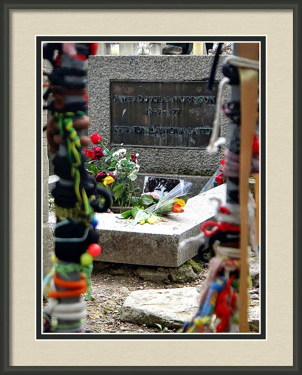 Jim Morrison's Grave in Paris by Two Small Potatoes