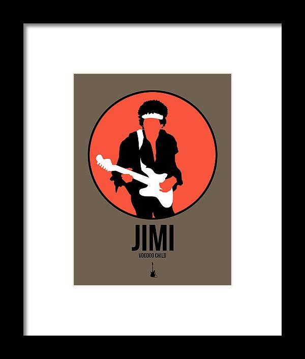 Jimi Hendrix Framed Print featuring the digital art Jimi Hendrix by Naxart Studio