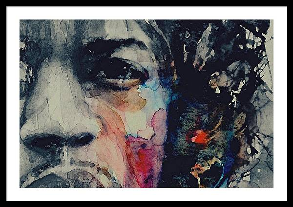 Jimi Hendrix - Somewhere A Queen Is weeping Somewhere A King Has No Wife  by Paul Lovering