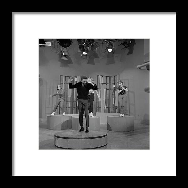 Singer Framed Print featuring the photograph Jimmy Lewis Performs by Michael Ochs Archives