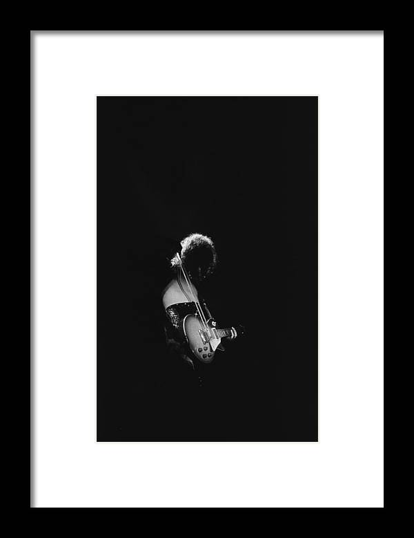 Rock Music Framed Print featuring the photograph Jimmy Page At The Forum by Michael Ochs Archives