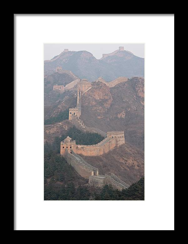 Chinese Culture Framed Print featuring the photograph Jinshanling Section, Great Wall Of China by Thomas Kokta