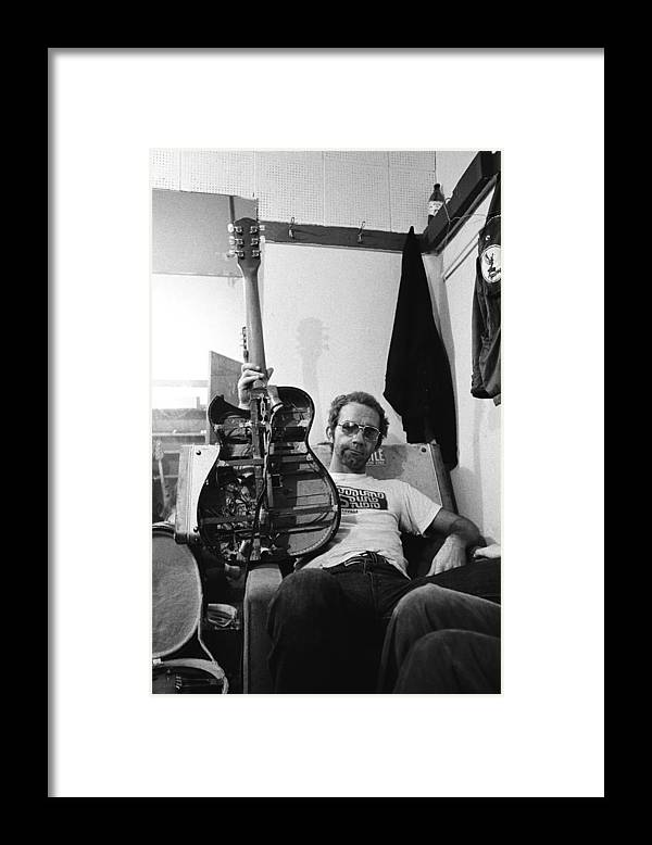 San Francisco Framed Print featuring the photograph Jj Cale Backstage by Richard Mccaffrey