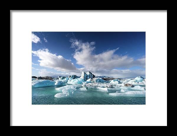 Tranquility Framed Print featuring the photograph Jökulsárlón - Glacier River Lagoon by Daniele Carotenuto Photography
