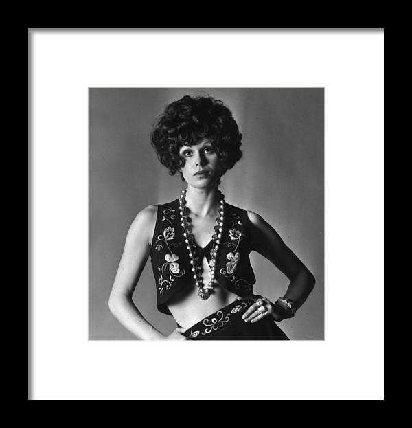 Joanna Lumley Framed Print featuring the photograph Joanna Lumley by M. Mckeown