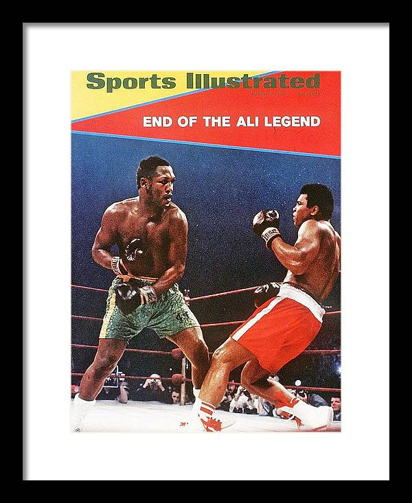 Joe Frazier Framed Print featuring the photograph Joe Frazier, 1971 Wbcwba Heavyweight Title Sports Illustrated Cover by Sports Illustrated