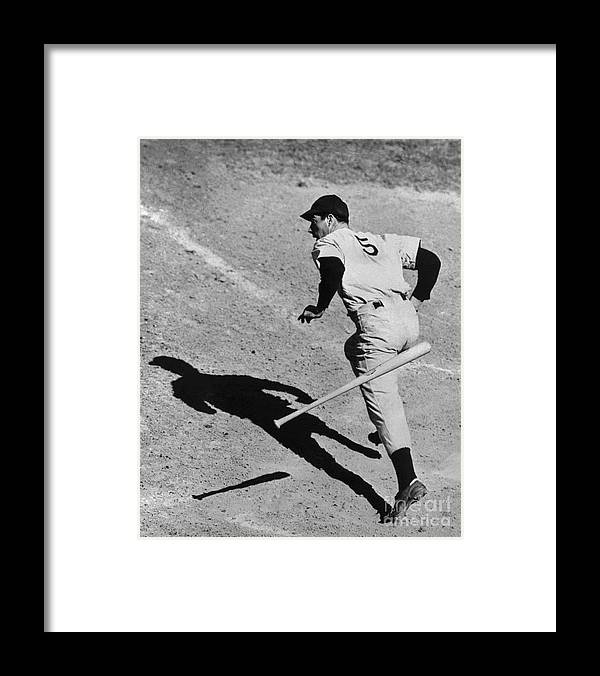 People Framed Print featuring the photograph Joe Getting The Hit by Bettmann