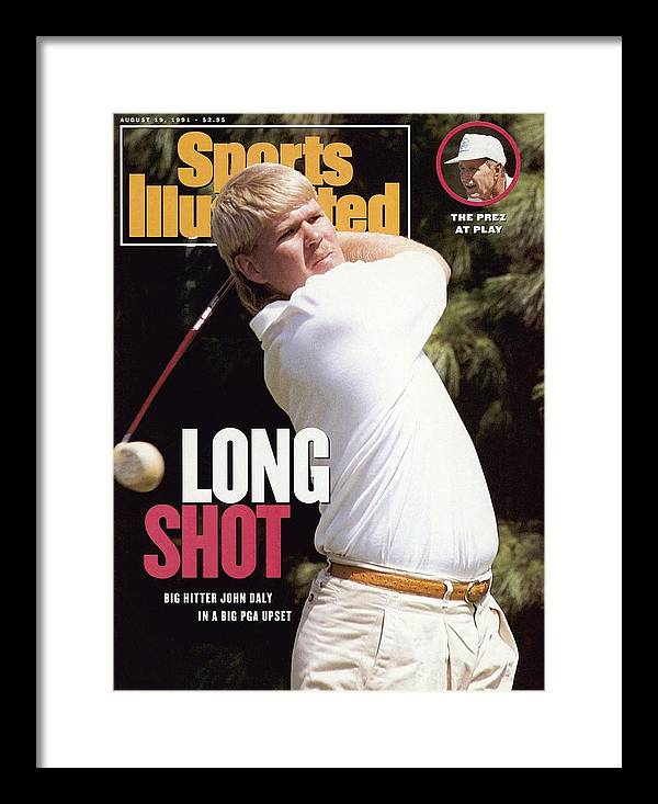 Magazine Cover Framed Print featuring the photograph John Daly, 1991 Pga Championship Sports Illustrated Cover by Sports Illustrated