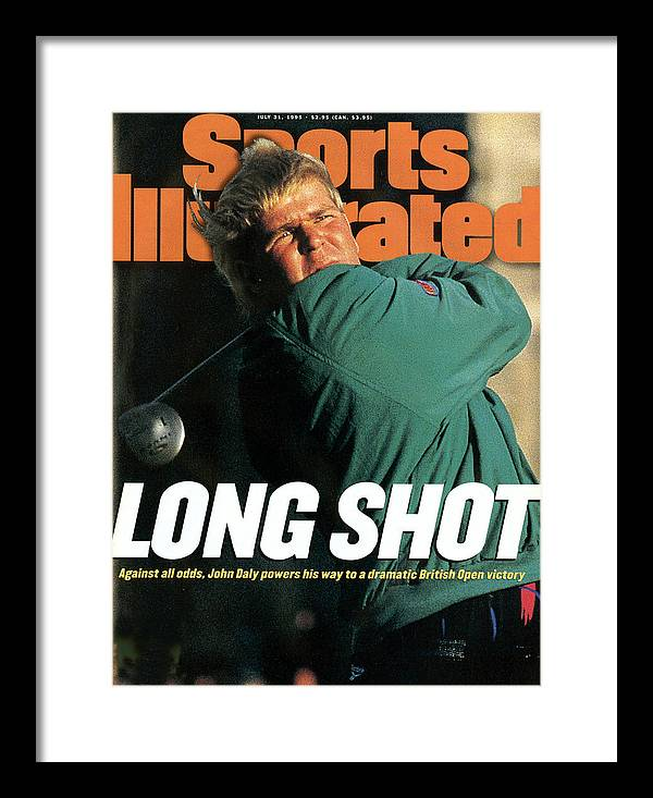 Magazine Cover Framed Print featuring the photograph John Daly, 1995 British Open - Final Round Sports Illustrated Cover by Sports Illustrated