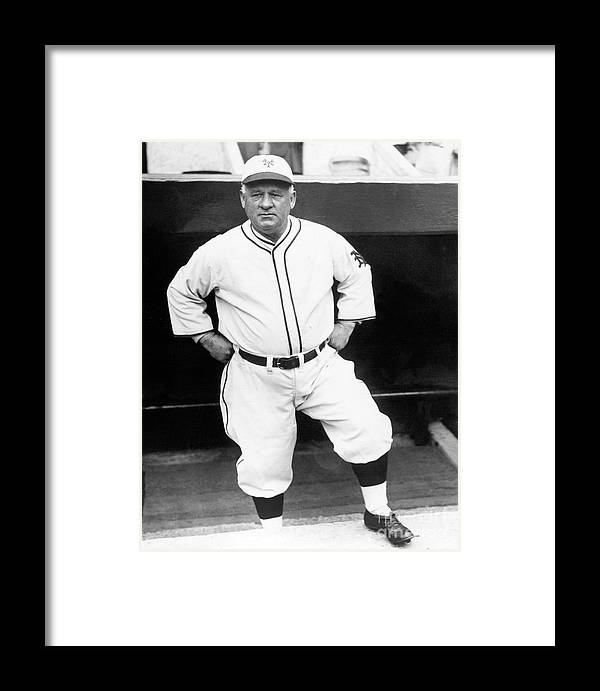 Professional Sport Framed Print featuring the photograph John Little Napoleon Mcgraw by National Baseball Hall Of Fame Library