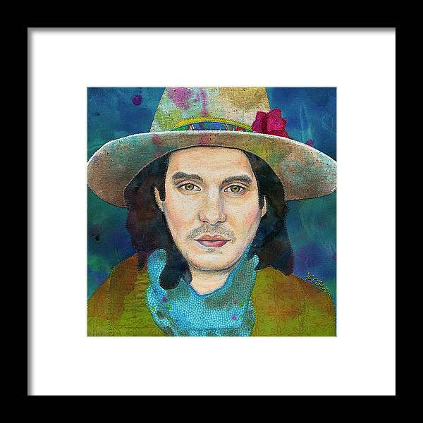 Dead And Co Framed Print featuring the mixed media John Mayer by Karen Payton