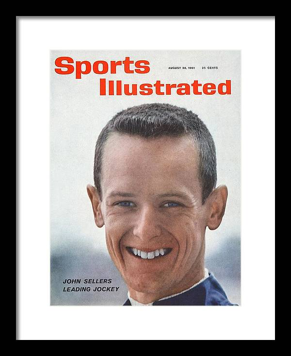 Horse Framed Print featuring the photograph John Sellers, Horse Racing Jockey Sports Illustrated Cover by Sports Illustrated