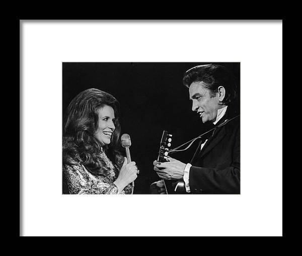 Singer Framed Print featuring the photograph Johnny And June by Archive Photos