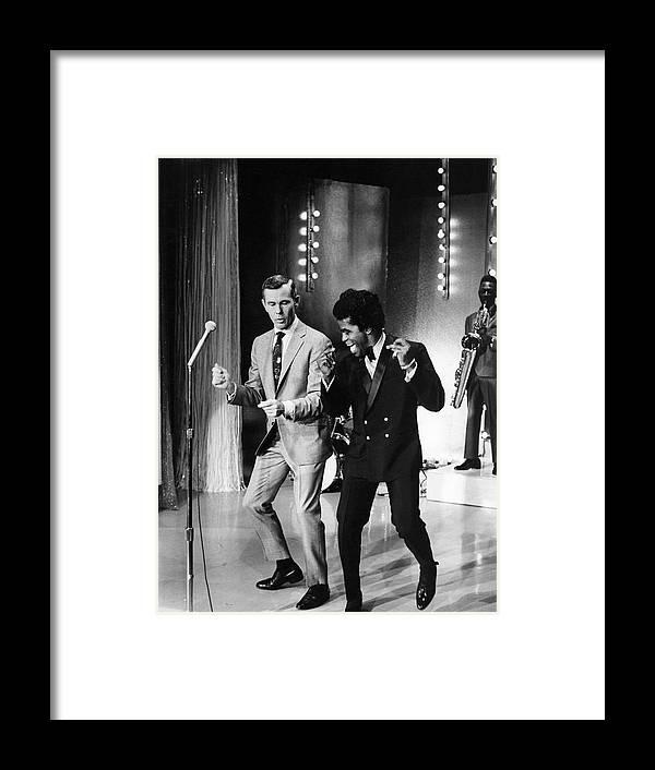 Singer Framed Print featuring the photograph Johnny Carsonjames Brown by Arthur Schatz