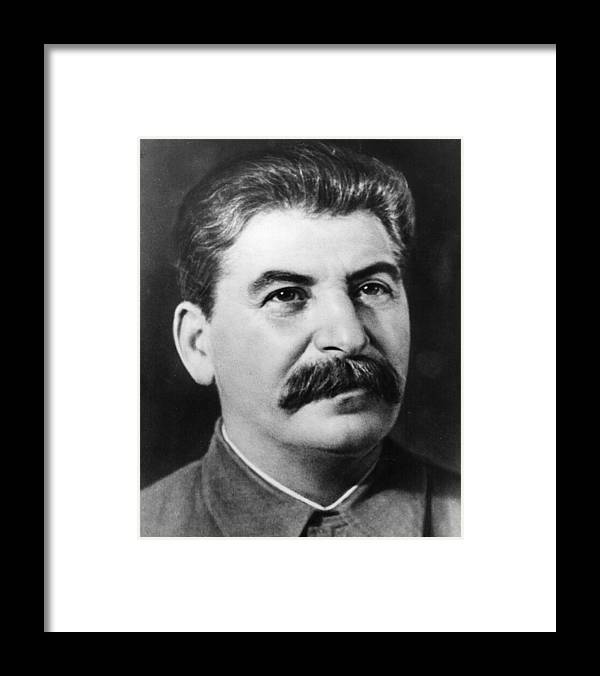People Framed Print featuring the photograph Joseph Stalin by Fox Photos