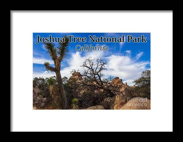 Joshua Tree National Park Framed Print featuring the photograph Joshua Tree National Park, California Box Canyon 02 by G Matthew Laughton