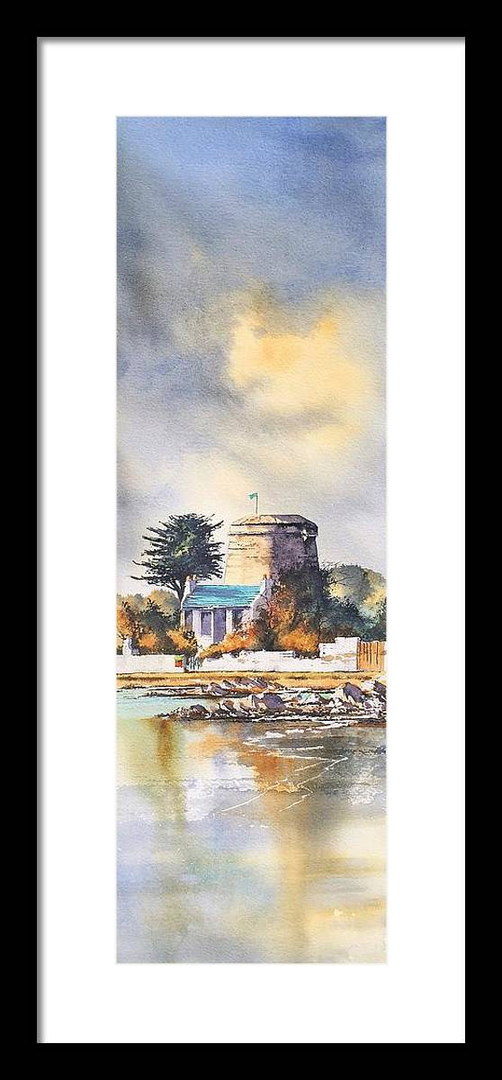 Ireland Framed Print featuring the painting Joyce's Tower Sandycove by Roland Byrne