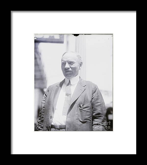People Framed Print featuring the photograph Judge In Evolution Teaching Trial by Bettmann