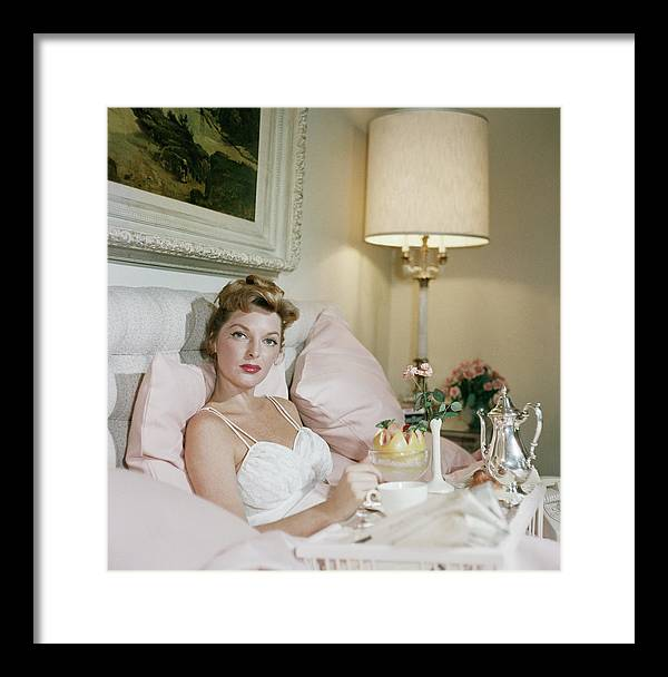 Singer Framed Print featuring the photograph Julie London by Slim Aarons