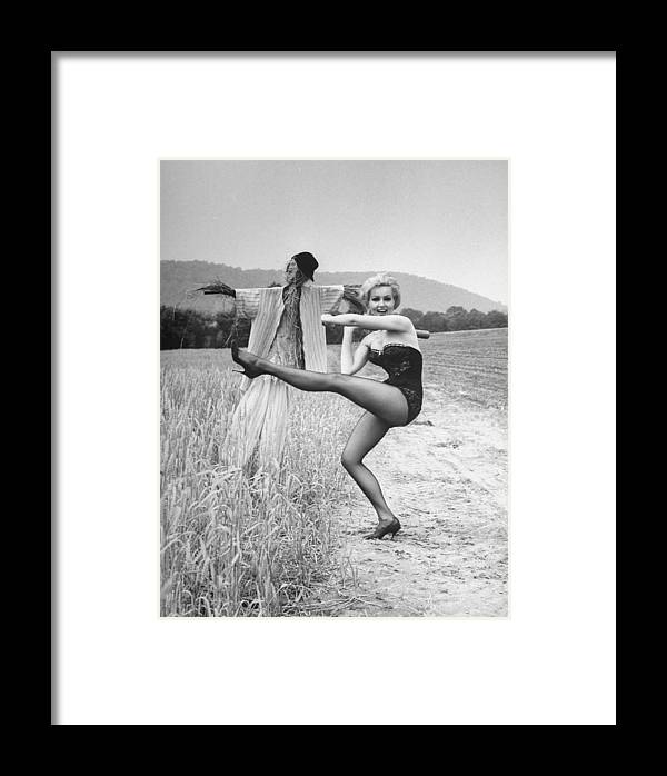 Timeincown Framed Print featuring the photograph Julie Newmar by Nina Leen