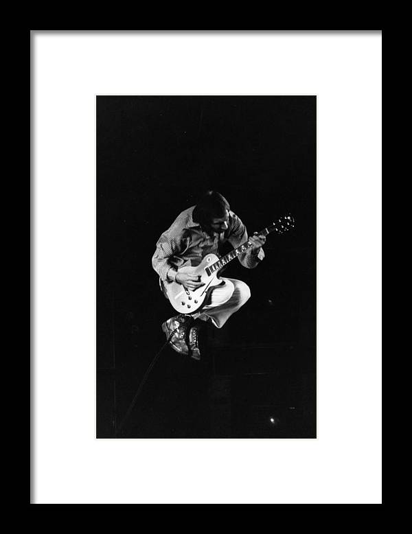 Rock Music Framed Print featuring the photograph Jumping Townshend by Evening Standard