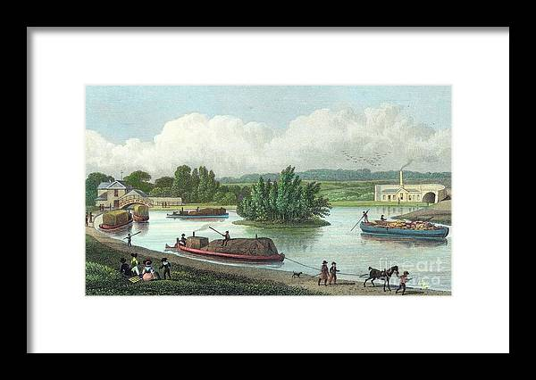 Horse Framed Print featuring the drawing Junction Of Regents Canal At Paddington by Print Collector