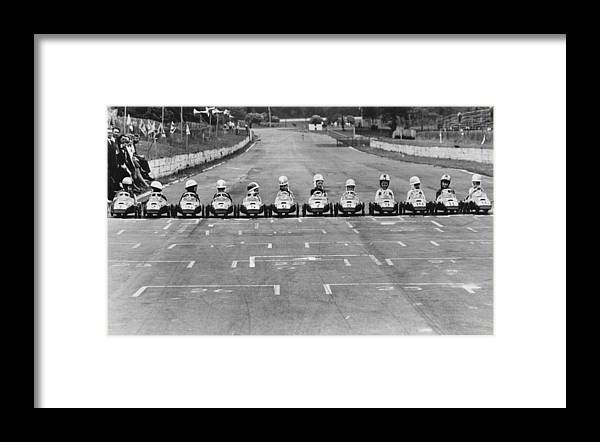 Formula One Grand Prix Framed Print featuring the photograph Junior Grand Prix by Central Press