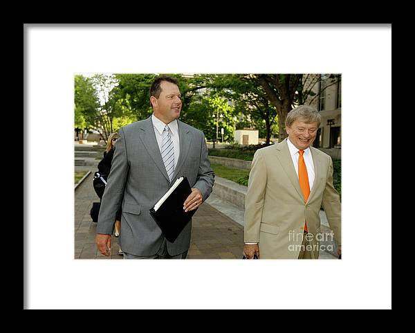 Lawyer Framed Print featuring the photograph Jury Selection Begins In Roger Clemens by Chip Somodevilla