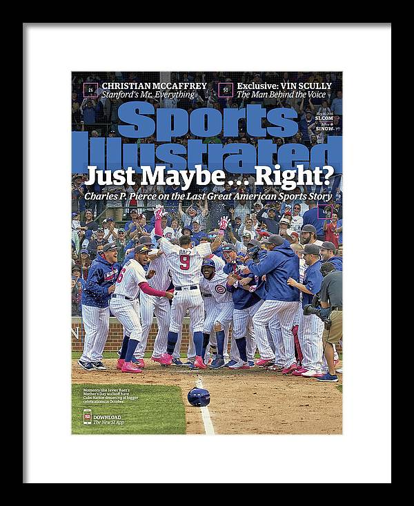 Magazine Cover Framed Print featuring the photograph Just Maybe... Right The Last Great American Sports Story Sports Illustrated Cover by Sports Illustrated