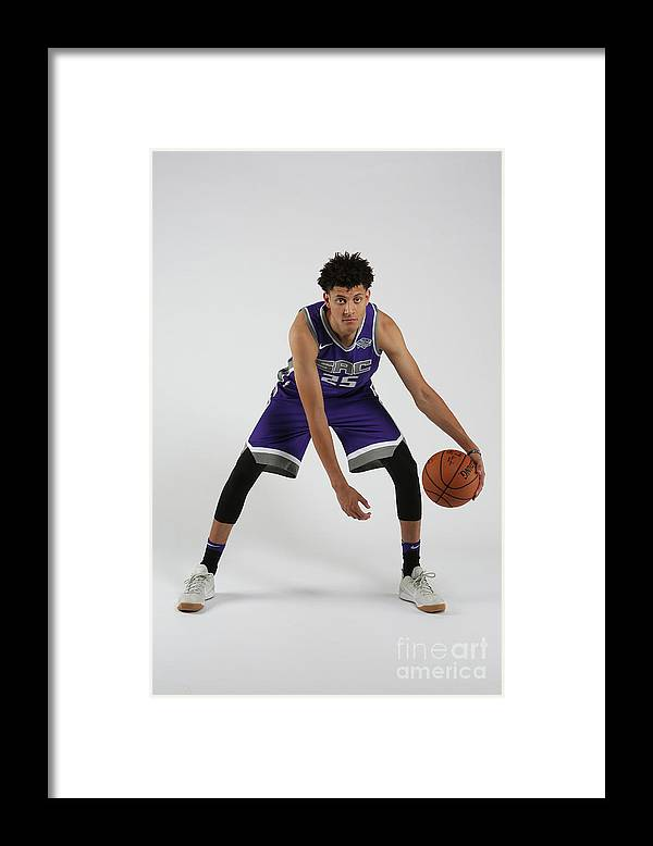Nba Pro Basketball Framed Print featuring the photograph Justin Jackson Rookie Shoot by Steve Yeater